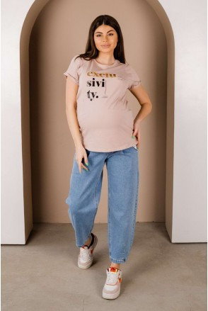 Джинси 4264491 Світло-блакитний для вагітних