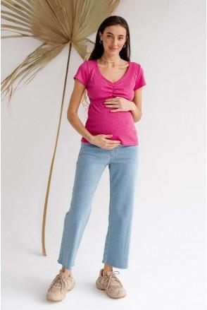 Джинси 4293491 Світло-блакитний для вагітних