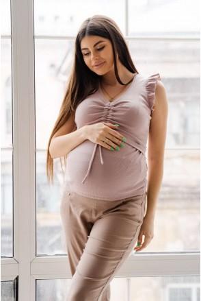 Майка 4309138 розовый для беременных и кормления