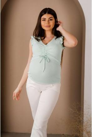 Майка 4309138 мятный для беременных и кормления