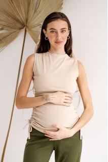 Майка 4305138 бежевый для беременных и кормления