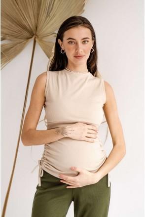 Майка 4305138 бежевий для вагітних і годування