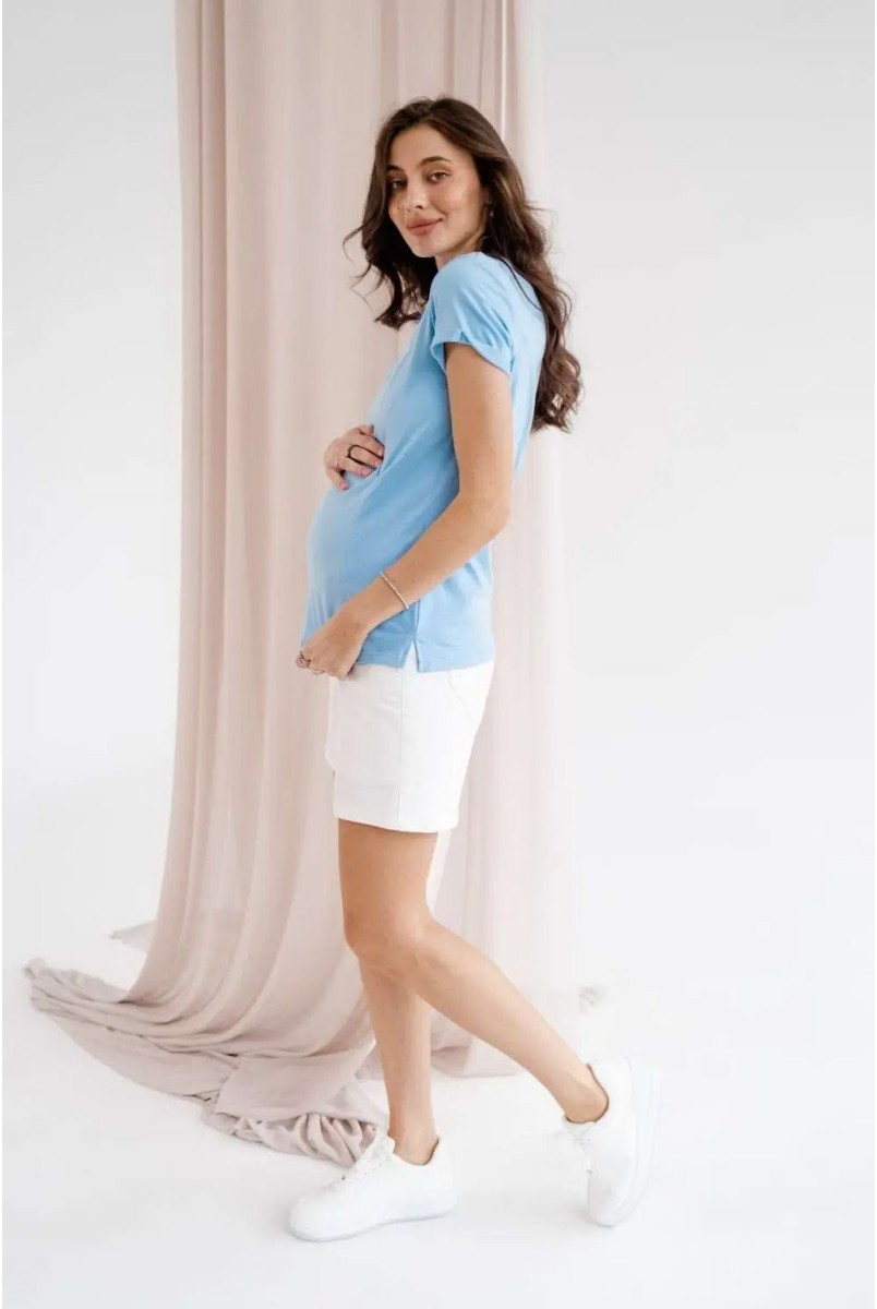 Футболка для беременных и кормления To be 3180041-71 голубой
