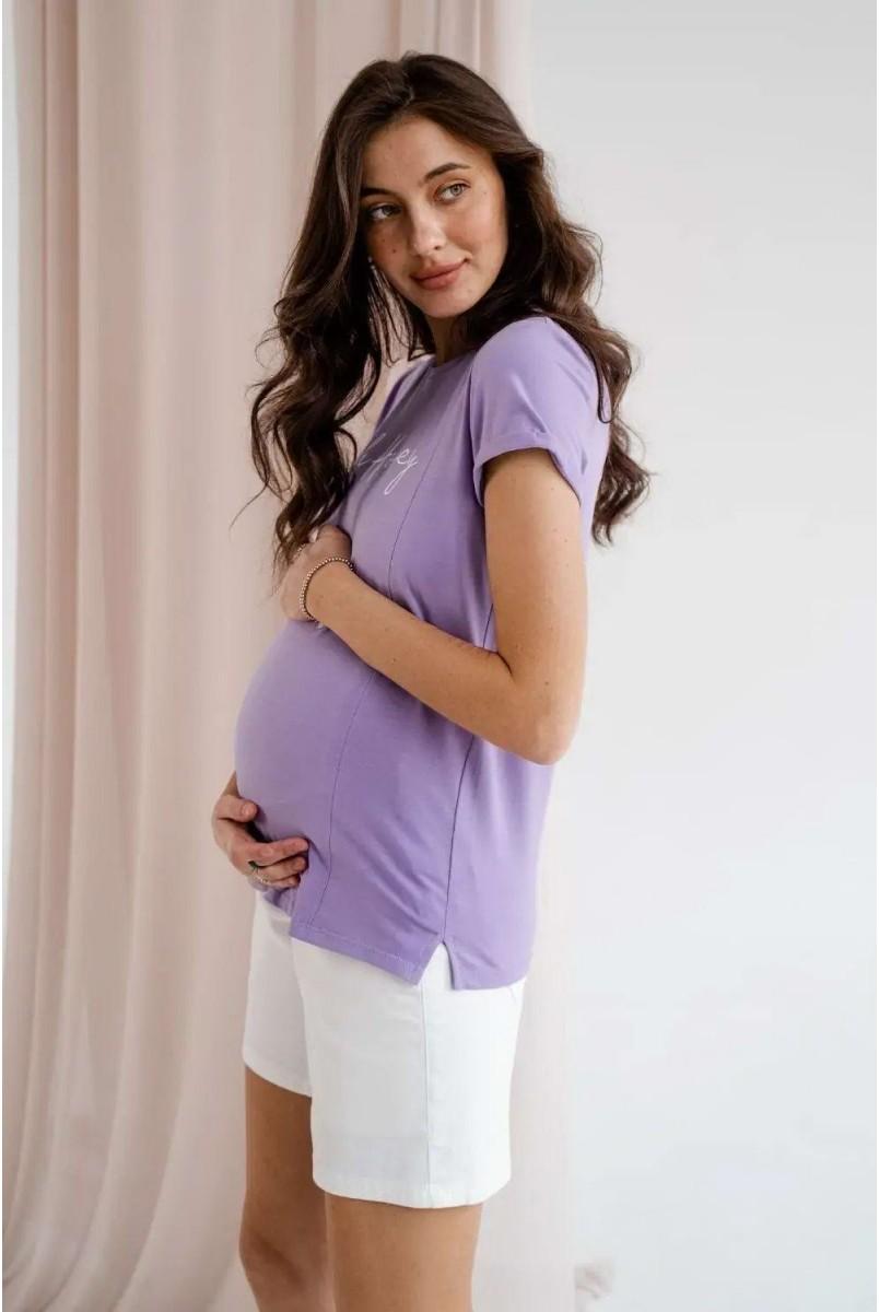 Футболка для беременных и кормления To be 3180041-71 лавандовый