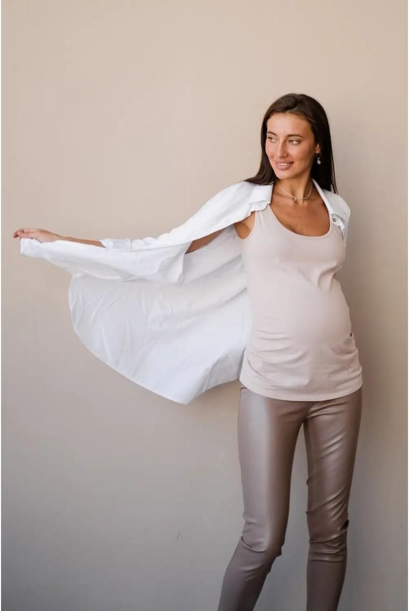 Майка для беременных To be 863041 бежевый
