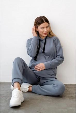 Спортивный костюм для беременных и кормления To be 4218115-4 серо-голубой
