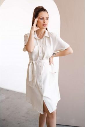 Платье 4248710 ванильный крем для беременных и кормления