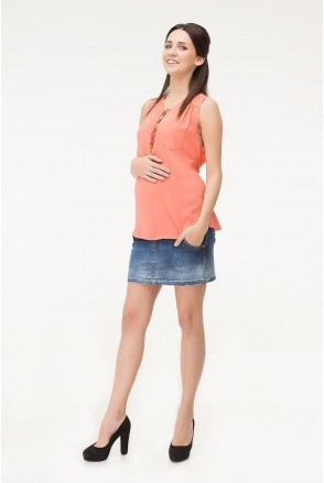 Юбка джинсовая 10022613 синий для беременных