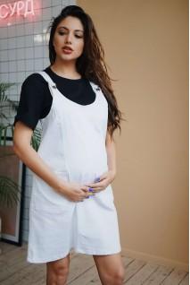 Сарафан женский из джинсовой ткани 3147464 для беременных и кормления