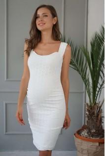 Сукня 4252077 біла прошва для вагітних