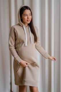 Сукня-худі 4284115 теплий пісок Для вагітних і годування