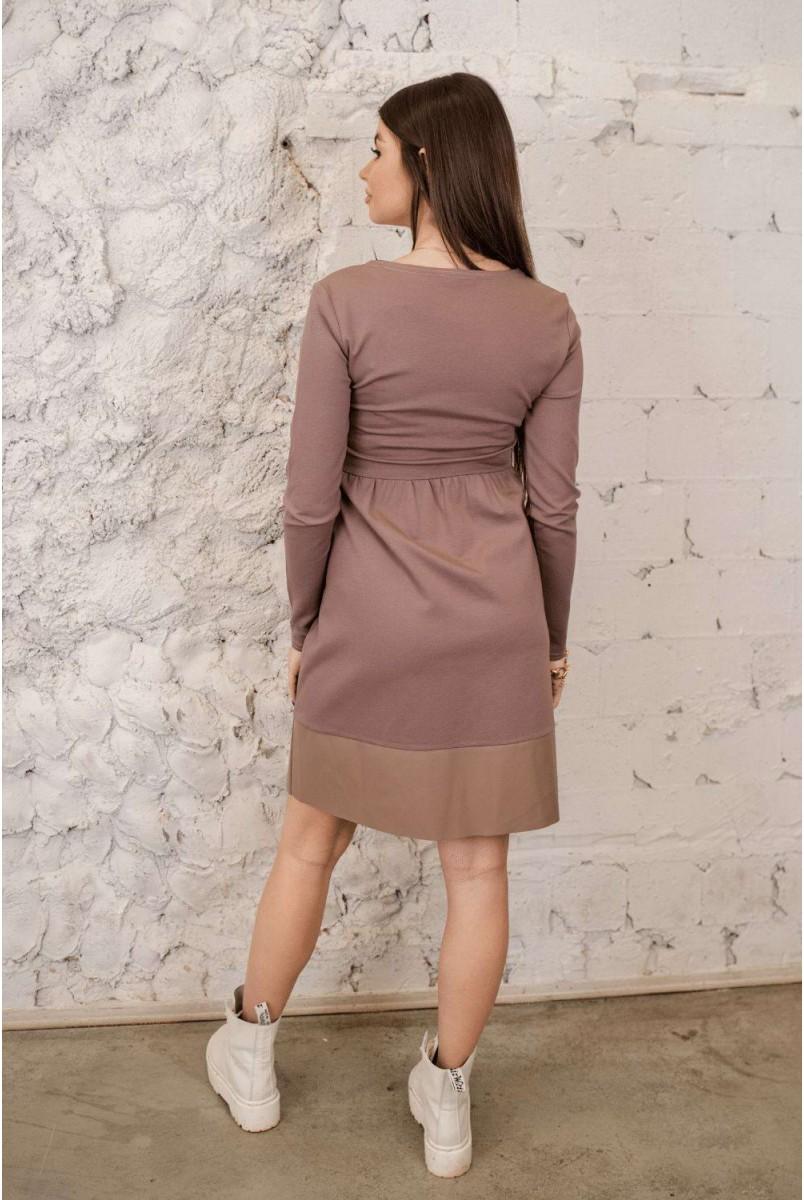 Сукня 4283001 мокко для вагітних і годування