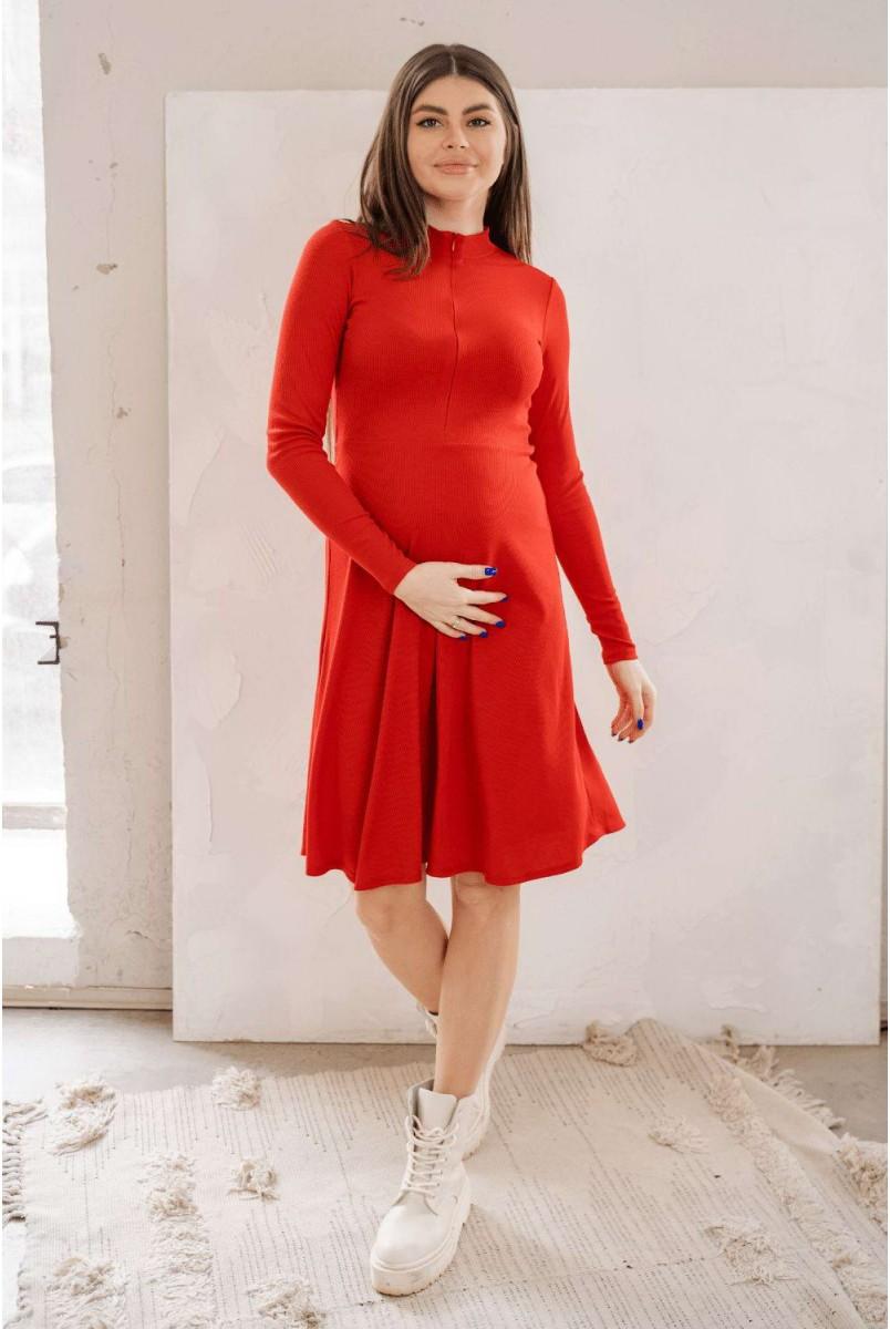Сукня 4287138 Червоний Для вагітних і годування