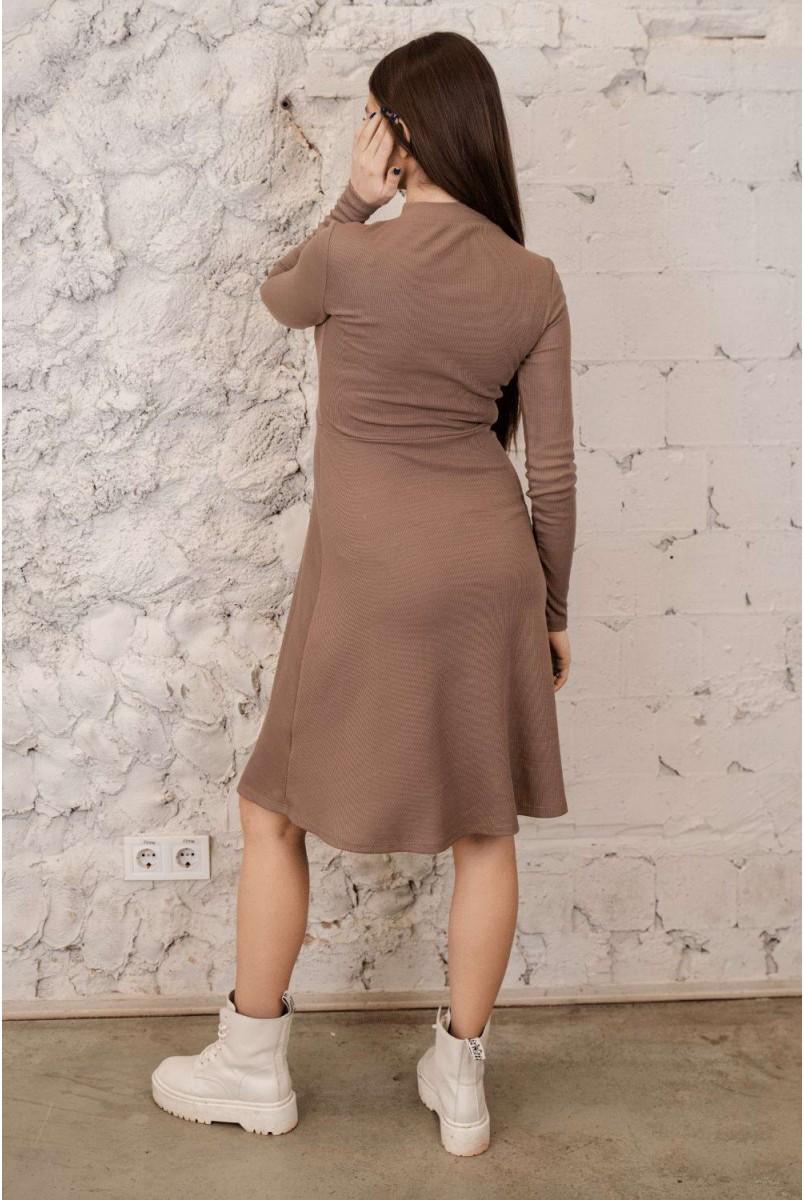Сукня 4287138 Коричневий Для вагітних і годування