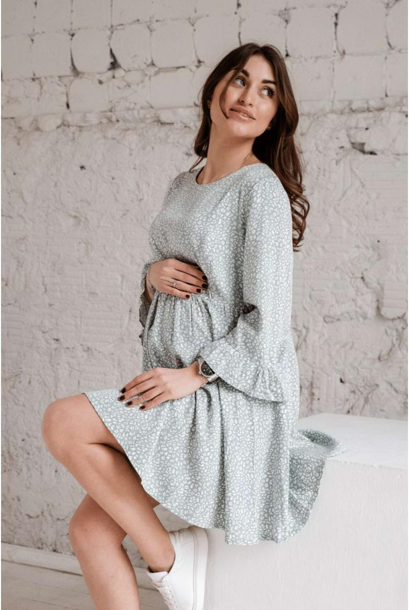 Сукня 4291726 м'ятний для вагітних і годування