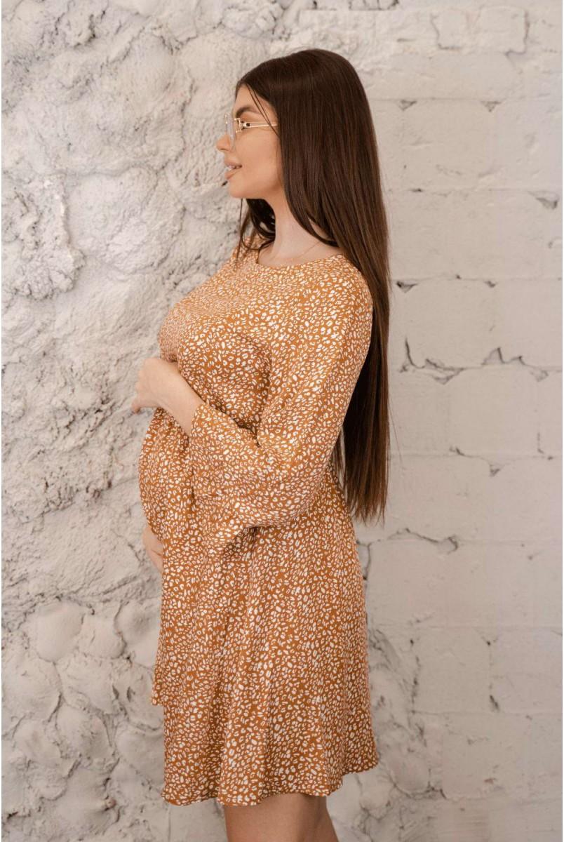 Сукня 4291726 гірчичний для вагітних і годування