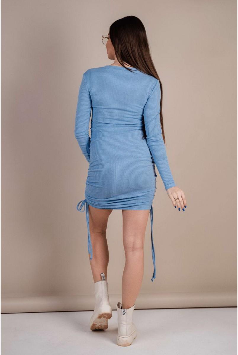 Сукня 4288051 блакитний для вагітних і годування