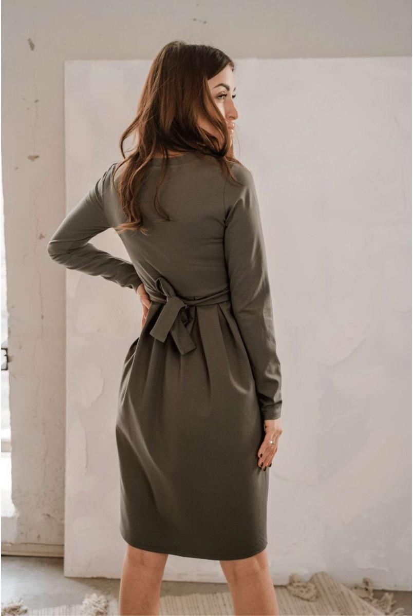 Сукня 4209001 хакі Для вагітних і годування