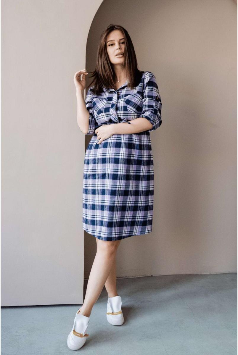 Сукня-сорочка 4206729 лавандовий для вагітних і годування