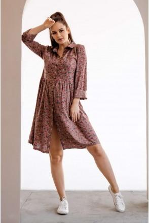 Платье 4292604 коричневый для беременных и кормления