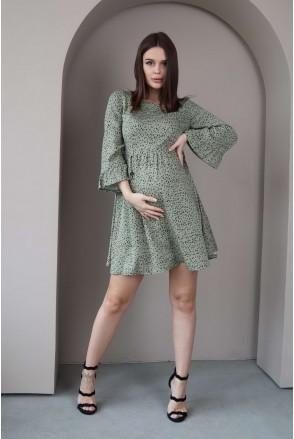 Платье 4291734 хаки для беременных и кормления