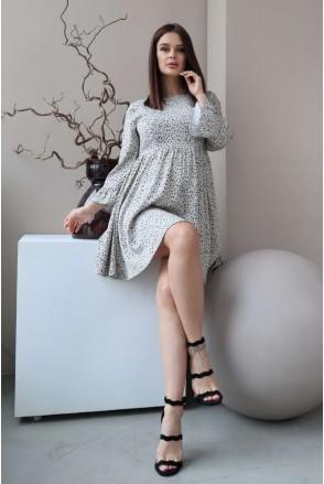 Платье 4291734 кремовый для беременных и кормления