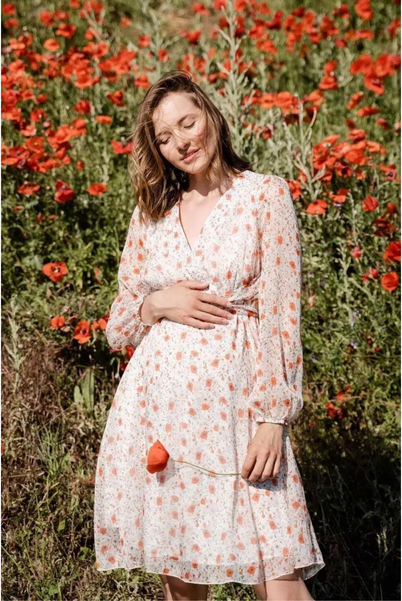 Платье для беременных и кормления To be 1461704 молочный