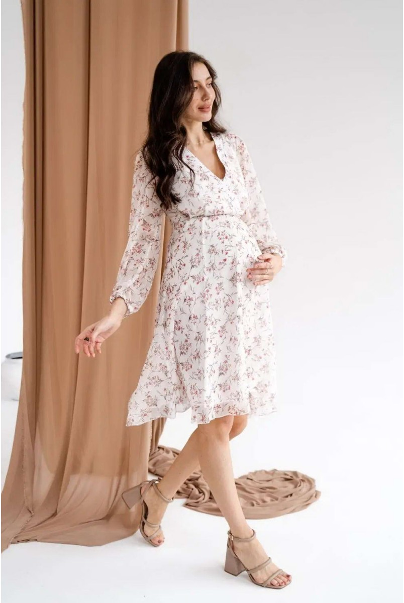 Платье для беременных и кормления To be 1461704 кремовый