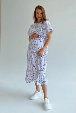 Платье для беременных и кормления To be 4337748 белый