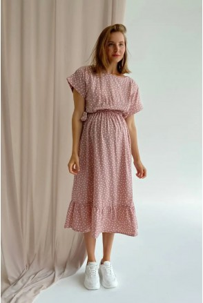 Платье для беременных и кормления To be 4337748 пудра