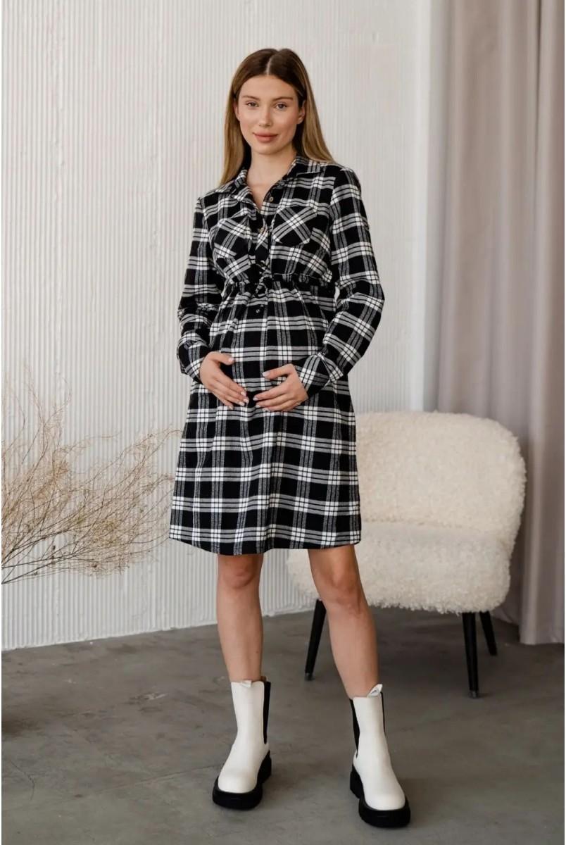 Платье-рубашка для беременных и кормления To be 4206729 черный