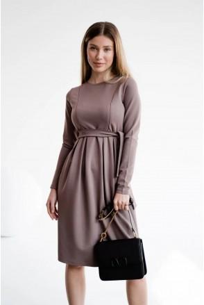 Платье для беременных и кормления To be 4209044 мокко