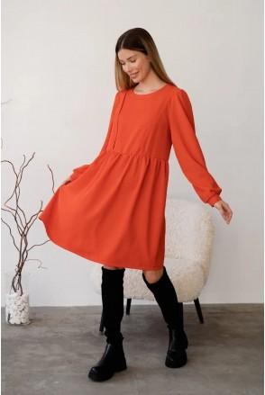 Платье для беременных и кормления To be 4369224 оранжевый