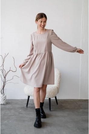 Платье для беременных и кормления To be 4369224 серый