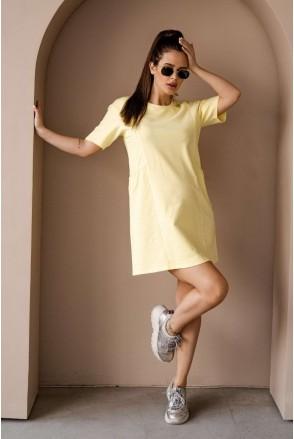 Платье 4242262 жёлтый для беременных и кормления