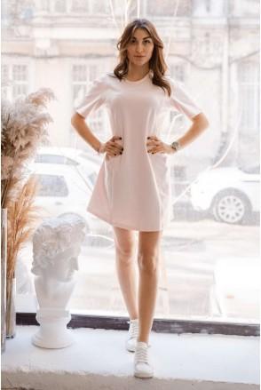 Платье 4242262 персиковый крем для беременных и кормления