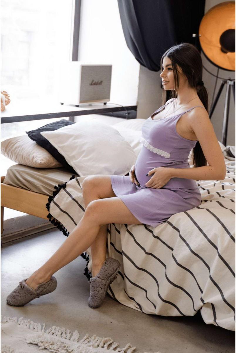 Сорочка 3059041 лавандовий для вагітних і годування