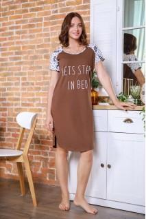 Сорочка 4103041-60 коричневий для вагітних і годування