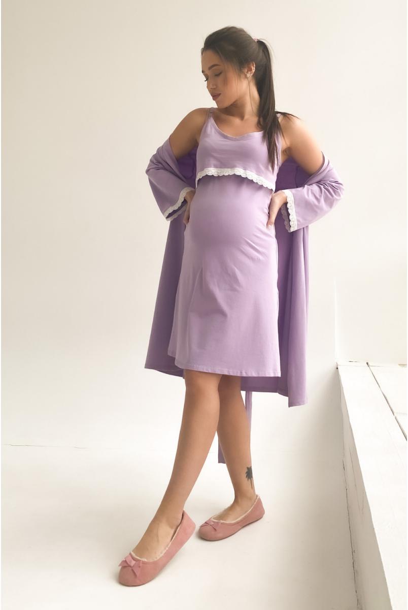 Халат 3057041 лавандовий для вагітних і годування