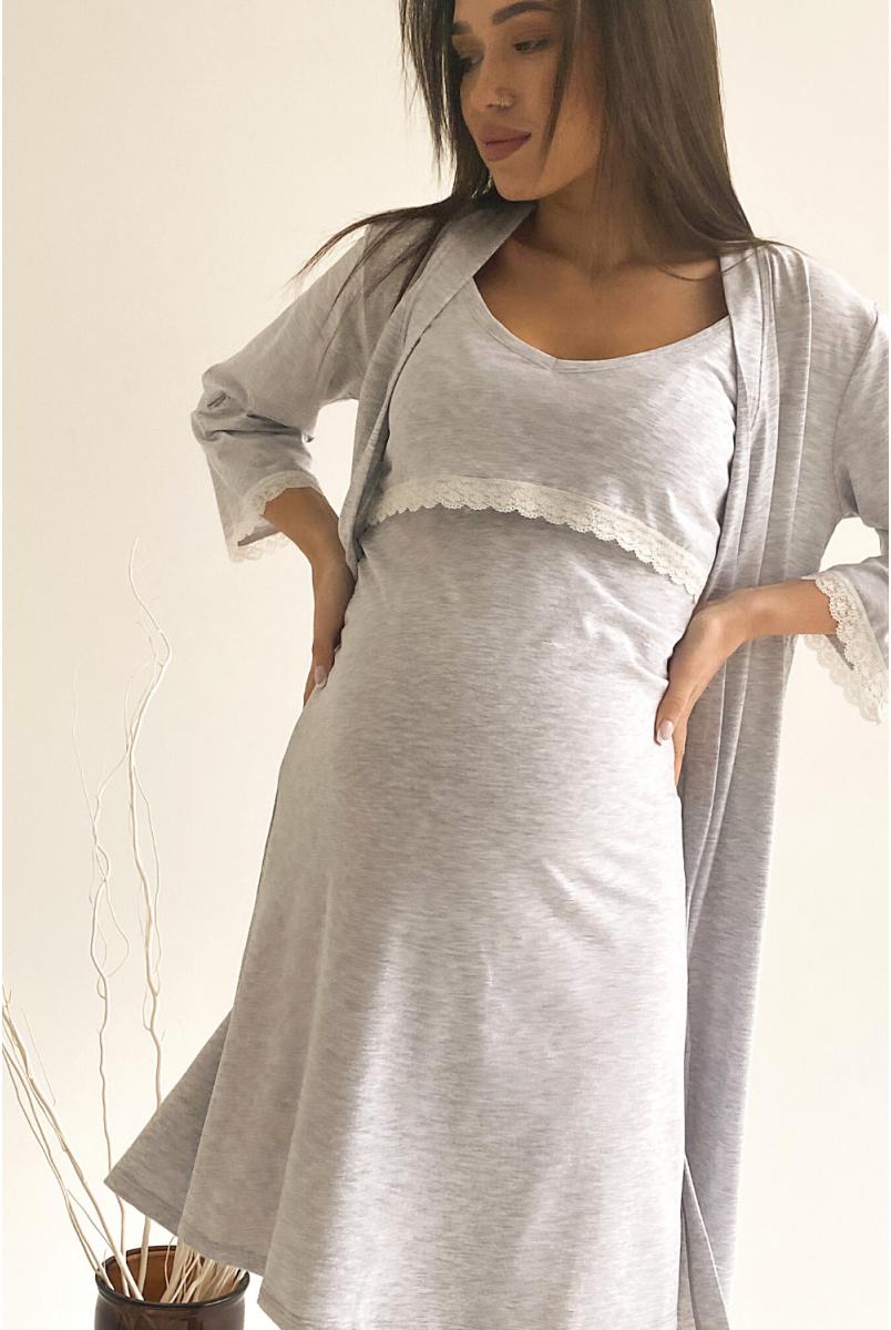 Сорочка 3059041 Сірий Для вагітних і годування
