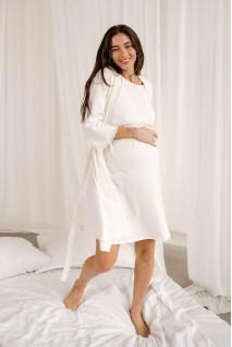 Комплект 4299041 (сорочка + халат) кремовий для вагітних і годування