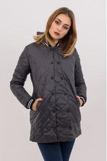 Демісезонна куртка 3133272 стьобана сіра для вагітних