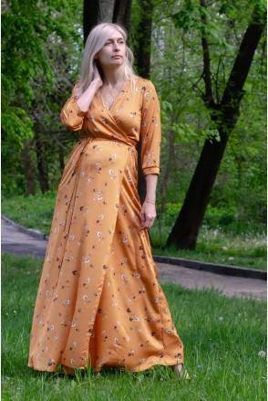 Платье WINDY золотисто-оранжевый для беременных и кормления