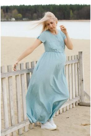 Платье CANDY нежно-голубой для беременных и кормления