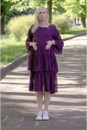 Платье шифоновое BOHO фиолетовый для беременных