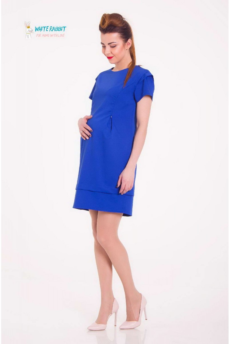Платье Betty ярко-синий для беременных и кормящих