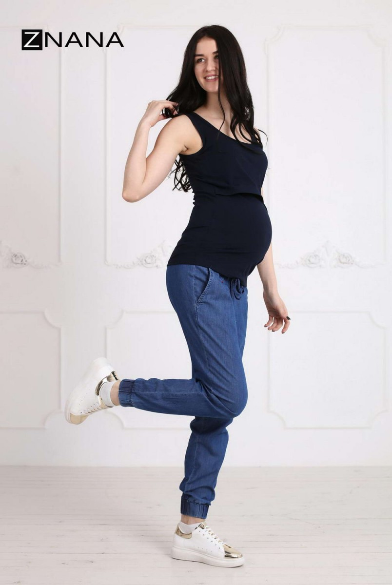 Майка Simple т.синя для вагітних і годування