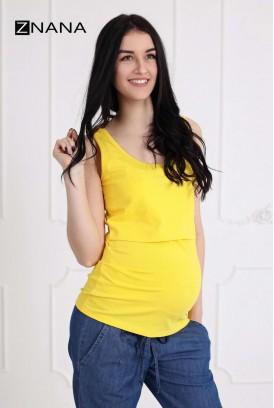 Майка Simple жовта для вагітних і годування