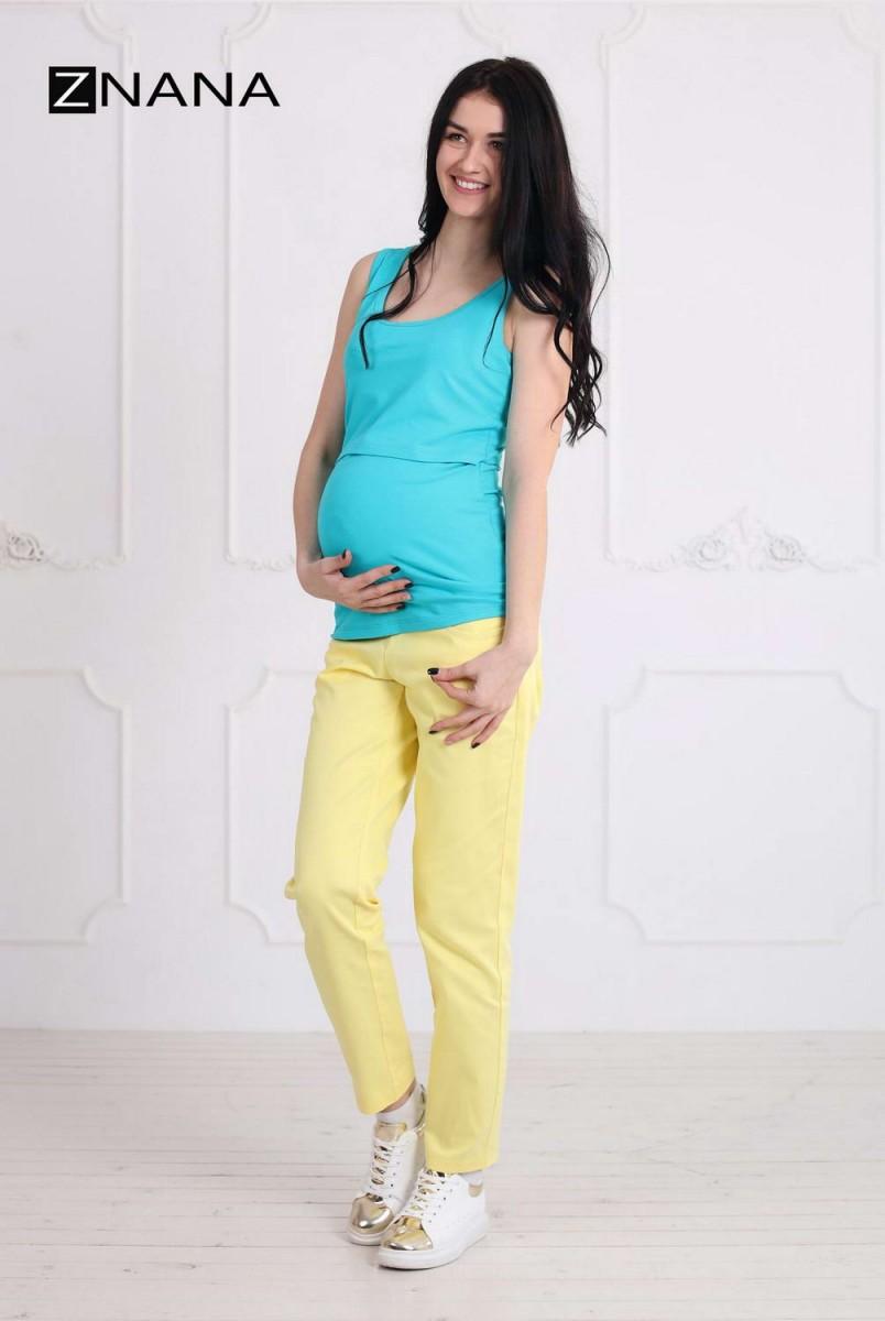 Майка Simple мята для беременных и кормящих