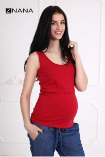 Майка Simple вишня для беременных и кормящих